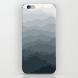 Silver Dew Mountains iPhone Skin