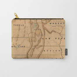 Map of Utah 1871 Carry-All Pouch
