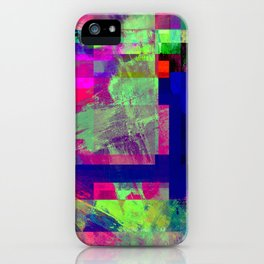 Pastel Geometry X - Abstract, goemetric, pastel coloured, textured artwork iPhone Case