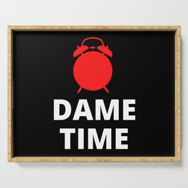 Dame Time Clock Serving Tray