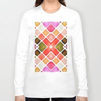watercolor Long Sleeve T-shirts featuring WATERCOLOR by Monika Strigel