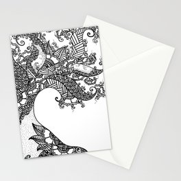Zen Tree Rebirth White Right Half Stationery Cards
