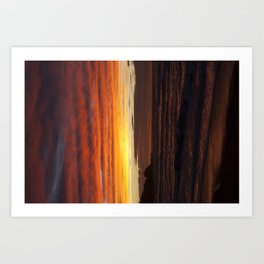 When the sky turns Art Print