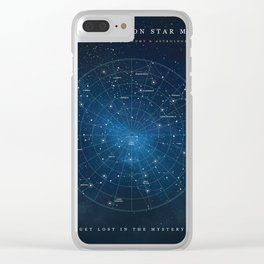 Constellation Star Map Clear iPhone Case