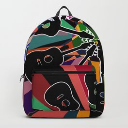 Psychedelic Geometric Rainbow Acoustic Guitar #1 Backpack