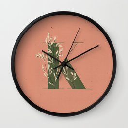 K for Kangaroo Paw Wall Clock