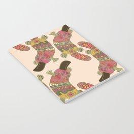 duck-billed platypus linen Notebook