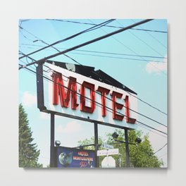 MONTREAL - Motel Metal Print