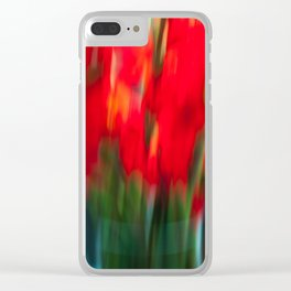 Red Gladiola Clear iPhone Case