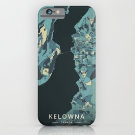 Kelowna, Canada - Cream Blue iPhone Case