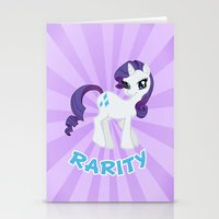 mlp Stationery Cards featuring MLP FiM: Rarity by Yiji