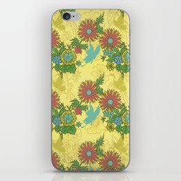 Garden Charm 8:  butterflies and blooms in fresh boho colors iPhone Skin
