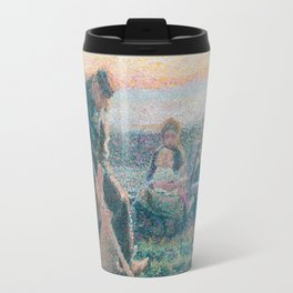 Digging farmer by Jan Toorop, 1888 Travel Mug