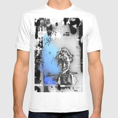 Lost love MEDIUM Mens Fitted Tee White