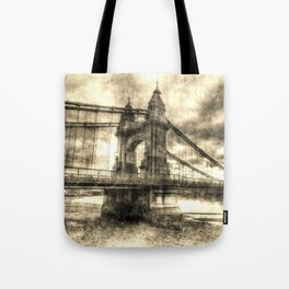 Hammersmith Bridge London Vintage Tote Bag