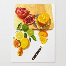 Still Life with Pomegranate Canvas Print