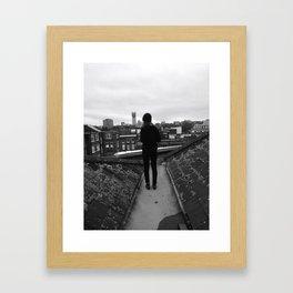 Standing on Top of London Framed Art Print