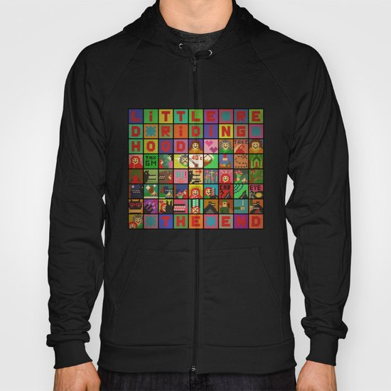little red riding hood pixel story Hoody