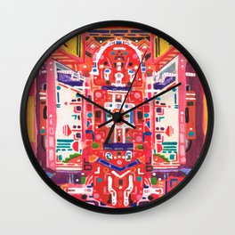 Scarlet Serpent of Knowledge Wall Clock