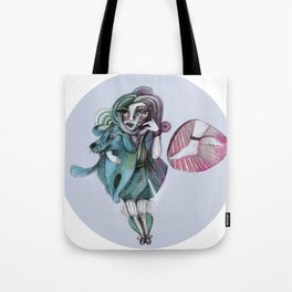 Penelope and Alba with Mercury's foot Tote Bag