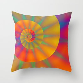 The Golden Sprial with Spikes Throw Pillow