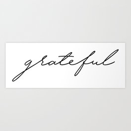 Grateful lettering design Art Print