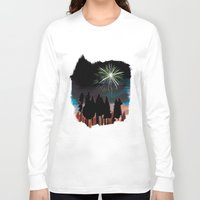 fireworks Long Sleeve T-shirts featuring Fireworks by p brain illustration