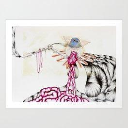 De Tripas Corazón Until Guttered Out Hummingbird Art Print