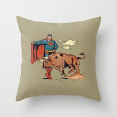 Matador of Steel Throw Pillow