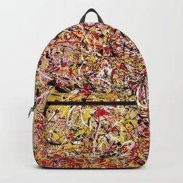 TENDER SUN - Jackosn Pollock style drip painting art design, dripping design, splash patern modern art Backpack