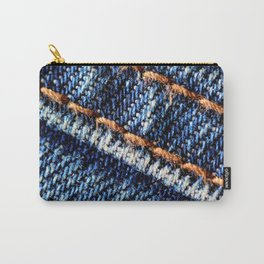 Blue jeans texture Carry-All Pouch