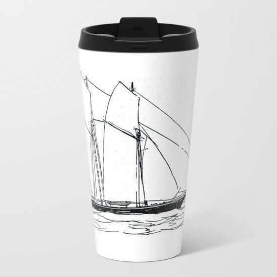 Sailing Metal Travel Mug
