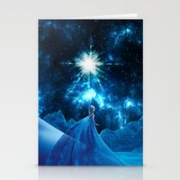 frozen elsa Stationery Cards featuring Frozen - Elsa by Thorin