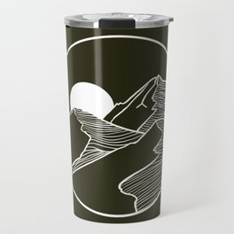 Mountain Sketch Artwork Travel Mug