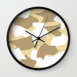 Abstract Cowhide Wall Clock