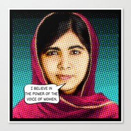 Malala: THE POWER OF WOMEN Canvas Print