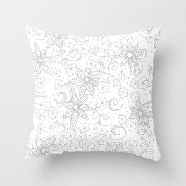 Winter Floral Throw Pillow