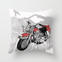motorbike Throw Pillows featuring MotorBike by tuncay cavdar