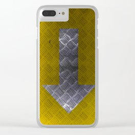 Industrial Arrow Tread Plate - Down Clear iPhone Case