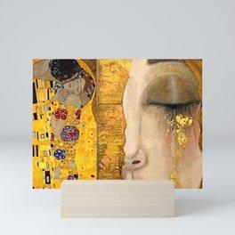 Gustav Klimt portrait The Kiss & The Golden Tears (Freya's Tears) No. 2 Mini Art Print