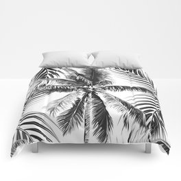 South Pacific palms II - bw Comforters