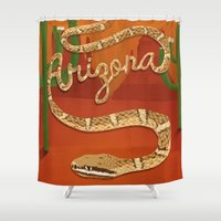 arizona Shower Curtains featuring Arizona by Santiago Uceda