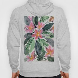 Tropical Flowers: Frangipani Hoody