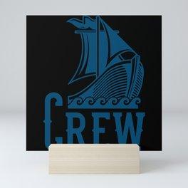 VIKINGS CREW SAILING CREW Gift Sailor Sailing Team Mini Art Print