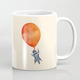 Raccoon and Balloon Coffee Mug