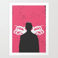 lovecraft Art Prints featuring Lovecraft by Nicolas Beaujouan