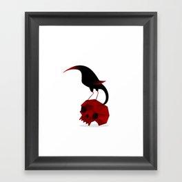 Bird and Skull Framed Art Print