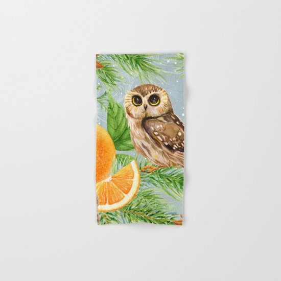 Winter animal #10 Hand & Bath Towel