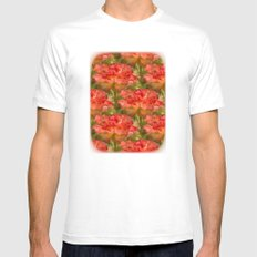 Roses Galore White MEDIUM Mens Fitted Tee