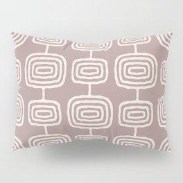 Mid Century Modern Atomic Rings Pattern Beige Pillow Sham